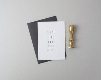 Letterpress Save the Date Invites (50 Pieces) - James Design