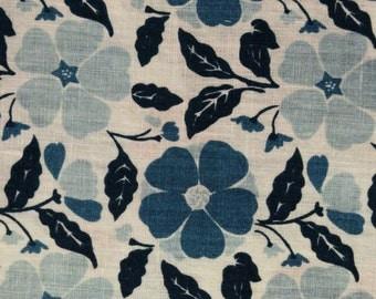Softened Linen Fabric - Flowers