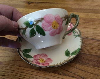 Vintage Franciscan Apple Blossom Cup and Saucer #1247