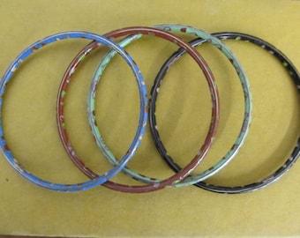 Set of 4 Vintage Cloisonne Bangle Bracelets