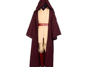 Adult Obi-Wan Kenobi Costume Star Wars Fancy Dress Cosplay Cloak Jedi UK Sizes S/M/L/XL/2XL