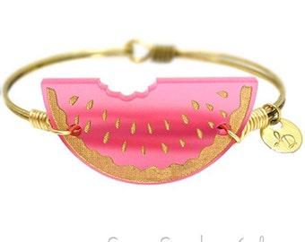 Watermelon Bracelet   Gift For Her   Watermelon Jewelry  