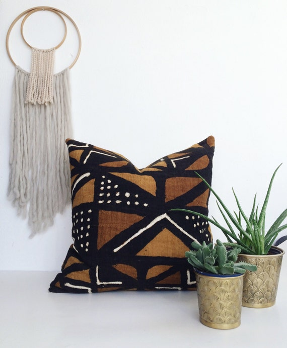 Bogolan Pillow African Mudcloth Pillow African Mud Cloth