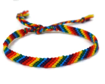 Rainbow Handmade Gay Pride Friendship Bracelet.