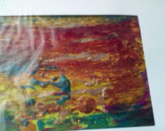 Encaustic Blank Notecard