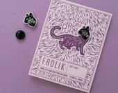 Cat Lady Hard Enamel Pin - Black and Silver