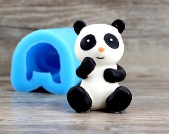 3D Animal Panda Soap Mold Candle Mold Soap Mold Mould Silicone Mold DIY Handmade R1753