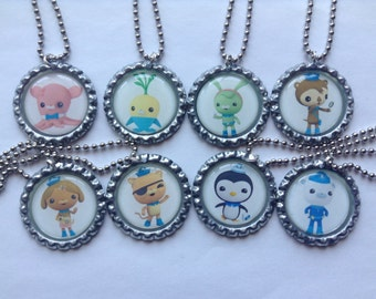 Octonauts Party Favor 8 Pack of Bottle Cap Necklaces