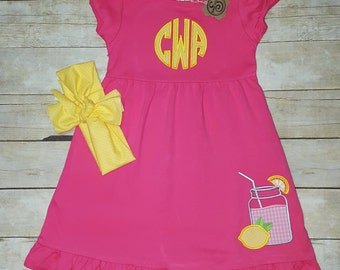 Girls Lemonade Ruffle Dress