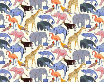 Liberty of London Tana Lawn Queue for the Zoo E-- 1/4 Yard