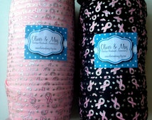 "Breast Cancer Awareness 5/8"" Foldover Elastic 1, 3 or 5 yards Lots DIY Fundraiser Charity Event Relay for Life Think Pink"