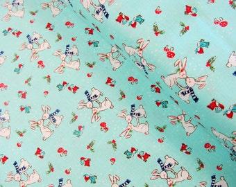 Pixie Noel - Pixie Bunnies(Aqua) - Tasha Noel - Riley Blake Designs