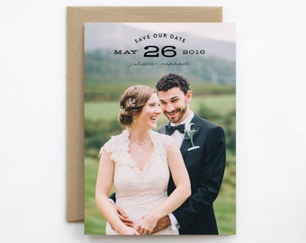 Wedding Save the Date - Cluster - Card and Envelope