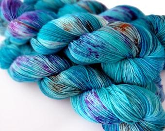 Sock Yarn Superwash Merino/Nylon 4ply Handdyed Yarn: CASTOR