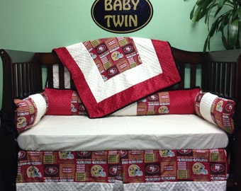 "4 pc Standard Crib Bedding Set ""SF 49ers"""