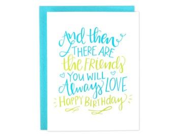 Happy Birthday Friend, Best Friend Birthday, Friend Bday Card, Bday Friend Card, BFF Birthday Card, My Person Card, Bestie Bday, Birthday