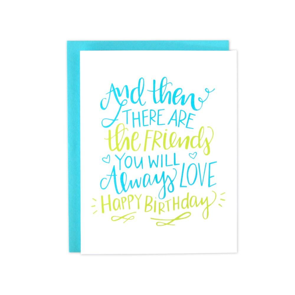 Happy Birthday Friend Best Friend Birthday Friend Bday Card – Birthday Friend Card