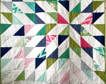 Starlight quilt patchwork blanket