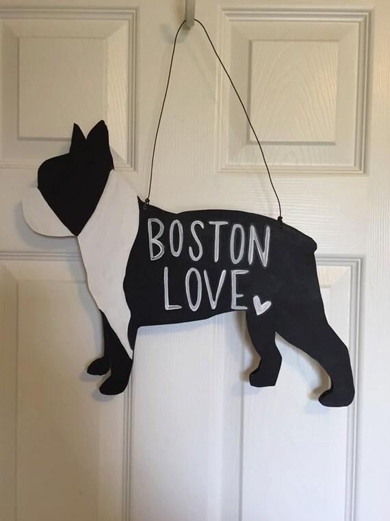 Boston Terrier Door Hanger Dog Door Hanger Dog Wreath