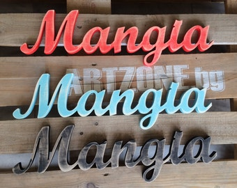 Mangia- Sign Mangia - Italian Eat Sign Mangia- Kitchen Decor-  Restaurant Decor