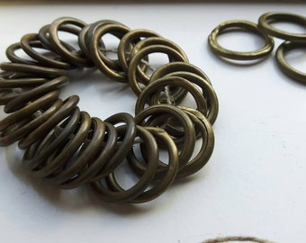 32 French curtain patina rings