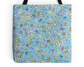 Chibi Pokemon Pattern ~ Pokemon ~ Polyester Premium Tote Bag