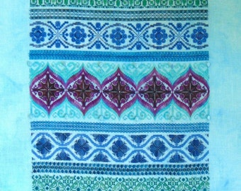 Peacock Band Sampler PDF chart by Northern Expressions Needlework