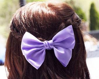 Lilac Big Bow Hair Clip