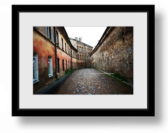 OLD TOWN Vilnius Lithuania, Color Photograph, home, office decor, color print