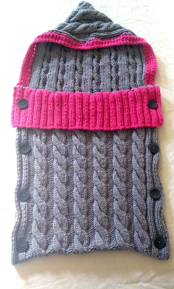 Knitting Pattern Sleeping Bag : Cable Knit Baby Sleeping Bag Pattern