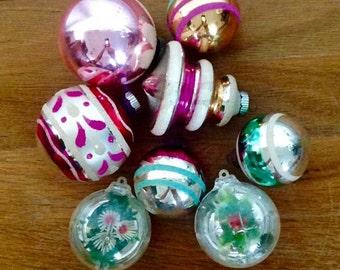 Vintage Christmas Ornament Set