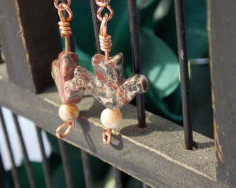 Jasper Bird earrings