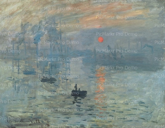 Monet Impression Sunrise - Edible Cake and Cupcake Topper For Birthday's and Parties! - D20752