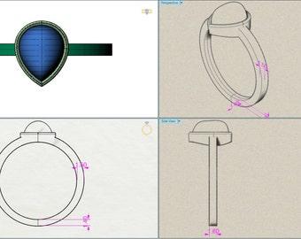 Custom design ring, CAD design of the ring, Custom Engagement Ring, Custom made Wedding band, Custom designer, design any jewelry