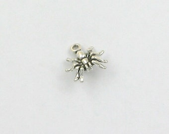 925 Sterling Silver Spider Charm - IN14