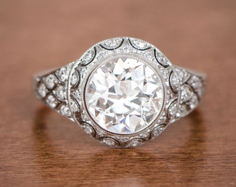 2.45ct Edwardian Style Engagement Rijng