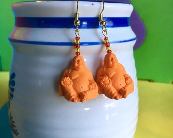 Smiling Buddha Earrings