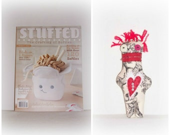 "EerieBeth ""Zip It"" Monster Doll Has Been STUFFED! Stuffed Magazine Spring Issue 2016 - EerieBeth Art Doll Up For Adoption"