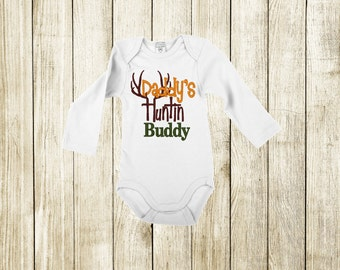 Daddy's Huntin' Buddy Embroidered Bodysuit