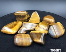 Jumbo Tiger's Eye Tumbled Crystals Power Protection - Large Jewelry Stone for Prosperity Abundance Manifestation Crystal Grid