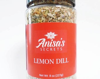 Lemon Dill - All Natural.  No Preservatives. No Color or Dye.  No MSG.  Gluten-Free
