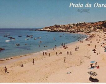 1 Unused Postcard, Praia da Oura, Algarve, Albufeira, Portugal, c1980s, good shape