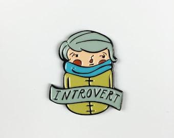 Introvert Lapel Pin