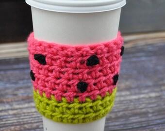 Watermelon- Reusable- Coffee Cup Sleeve