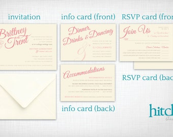 Wedding Invitations: Brittany + Trent