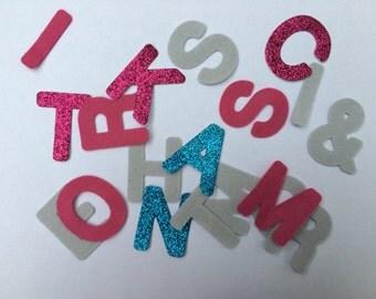 Felt die cut letters, felt alphabet, felt letters, felt abc
