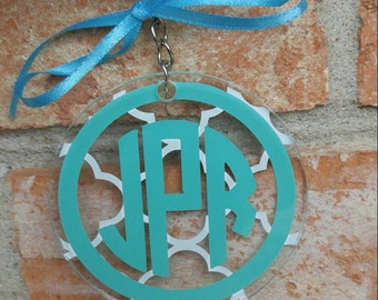 """Personalized keychain (3"""" acrylic circle with chain attached)"""