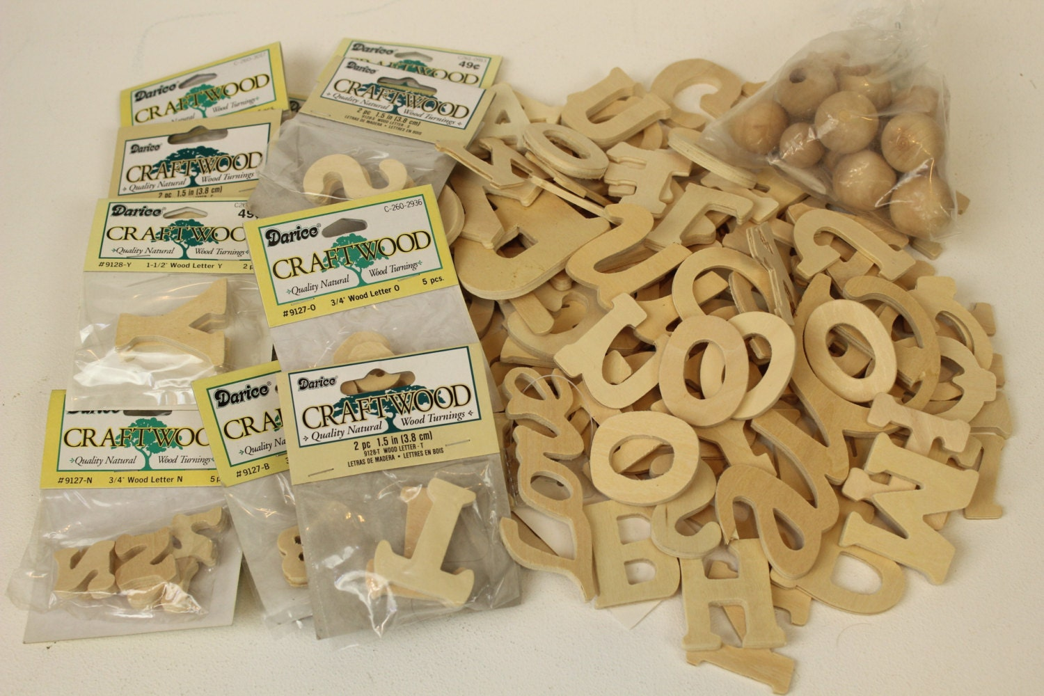 Wood letters craft supplies darice craftwood quality wood for Wooden craft supplies online