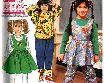 Simplicity Sewing Pattern 7466 Girls' Jumper in two lengths, Pants, Top  Size:  A  3-6X  Uncut