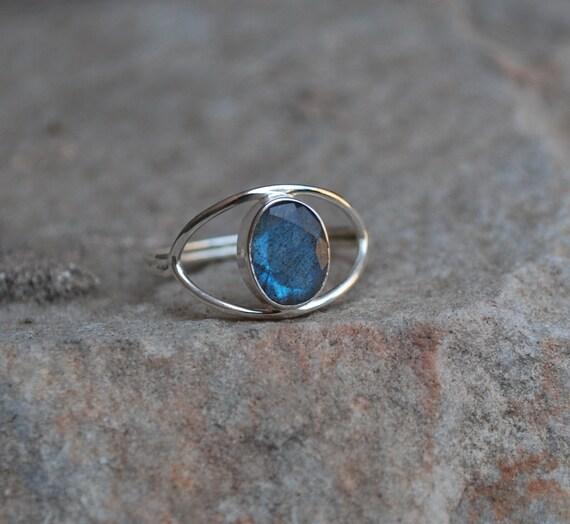 grey labradorite gemstone ring by mickeyjewels on etsy